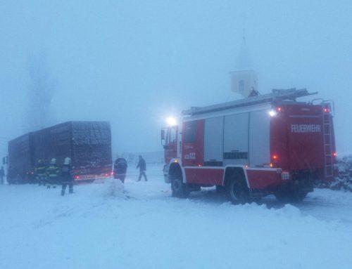 LKW Bergung bei Eis und Schnee
