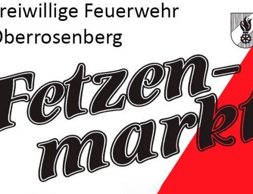 Ankündigung Fetzenmarkt Oberrosenberg